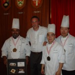 The winning team UBC with Director of Food Services